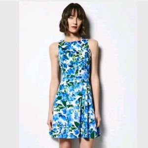 Milly Floral Sateen Sleeveless Fit & Flare Dress